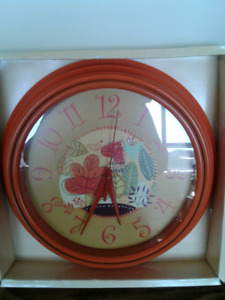 """It's """"Time"""" to start buying Fall decor...Brand New Clock"""