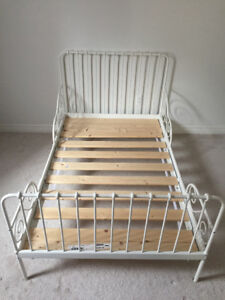 Adjustable Twin Toddler/Child Metal Bed