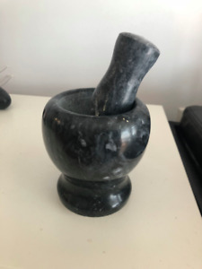 Small marble mortar and pestle - $10