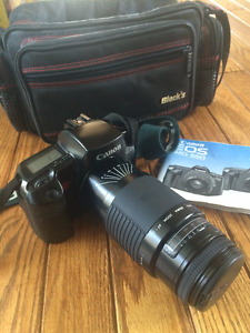 Canon EOS 620 Film Camera with Sigma 75-300mm Lens