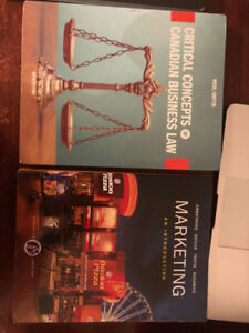 Marketing and Business Law for sale