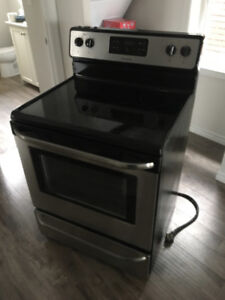 Stainless steel  fridge and stove