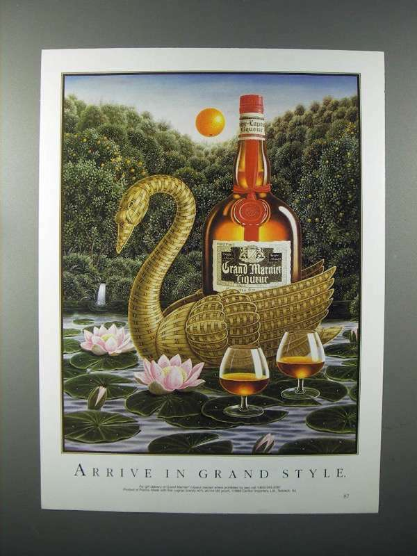1989 Grand Marnier Liqueur Ad - Arrive in Style