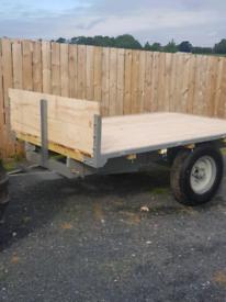 Vintage flat trailer