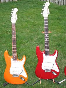 Strat type guitars with JD Custom Hand Wound Pickups