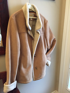 **TAN SUEDE WINTER COAT**