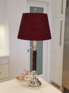 Burgundy and Gold Lamps (Two)
