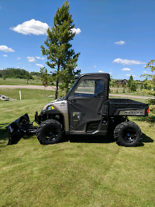2015 Polaris Ranger 900 w/Snow Blade and Vinyl Cab+ Trailer