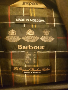 Barbour jacket womens size 4