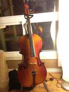Cello with stand