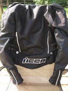 Women's Icon Hella Textile Motorcycle Jacket (small)
