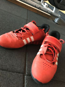 Men's red AdiPowers size 10.5