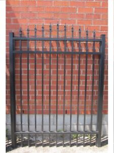 """ALUMINUM GATE 53-½"""" wide, 6 ft high–Surplus Inventory–SAVE 60%"""