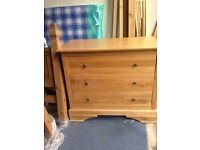 Solid oak chest of drawers full range available