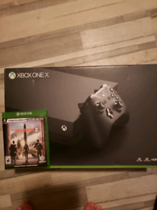 Xbox one x avec the Division 2