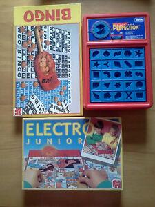 Perfection, Electro and Bingo games