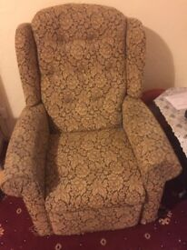 Petite rise and recline chair