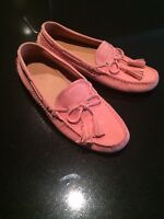 Brand New Coach Nadia Pink Suede Moccasins