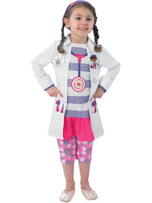 Child Disney Doc Mcstuffins Fancy Dress Costume Book Week Doctor Kids Girls BN