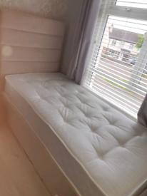 Single bed with foam mattress
