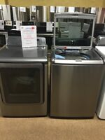Brand-new Samsung washers and dryers