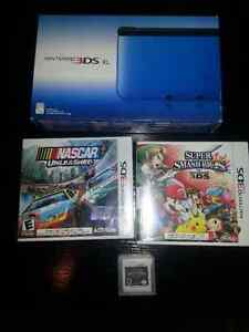 Nintendo 3DS XL + 3 Jeux Super Smash Bros, Nascar, Kindom Hearts