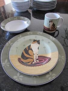 "Warren Kimble ""Cat Collection"" dishes"