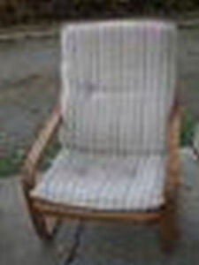 CHAIR-WOOD AND UPHOLSTERY COMBO $99 very comfortable