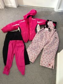 Ski outfit Age 3-4 with base and mid layer bottoms