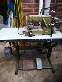 Rockwell remoldi -s-p-a twin needle industrial sewing machine