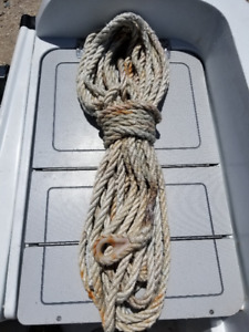 """1/2"""" X 100' Three Strand Anchor Rode with Thimble"""