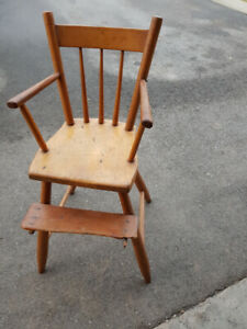 Antique childrens high chair