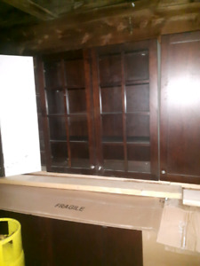 Cherry Wood Kitchen Cupboards (real wood)