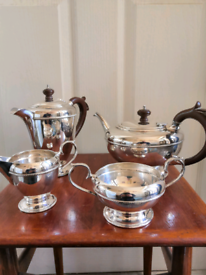 4 Piece Silver Plated Hallmarked Tea Set