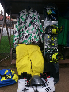 Snowboard  and gear.400 obo