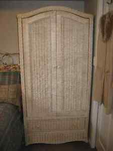 Large wicker style Armoire