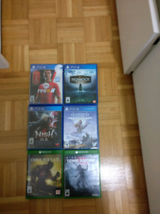 Selling both xbox and ps4 games for good prices