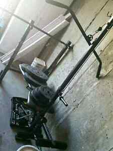 Weight bench set with weights asking 150$ obo