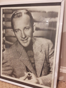 Bing Crosby Old Photo signed & framed