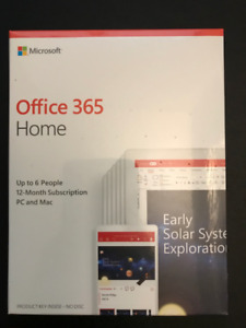 Genuine Office 365 Home (6 People) sealed package $50