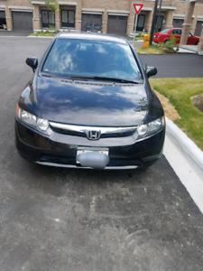 2007 Honda civic 4 door black colour