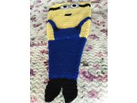 Minion and mermaid tail blankets and other toys etc