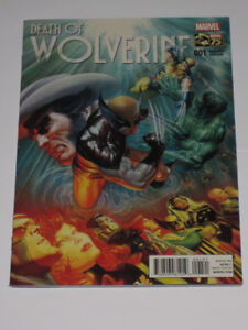 Marvel Comics Death of Wolverine#1 1 in 75 variant! comic book