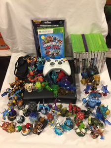 Xbox 360 S with Sports Games and Skylanders
