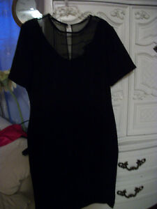 "VINTAGE ORIGINAL ""FAIRWEATHER"" BLACK DRESS - made in Canada"