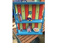 Hand crafted, hand painted, shelving, ideal for children's bedrooms/nursery