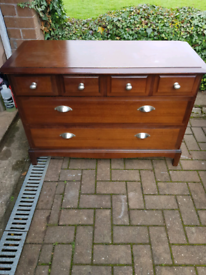 Stag vintage chest of drawers