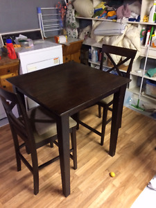 """Matching table and 2 chairs.  31"""" x 31.5"""" x 36""""tall"""