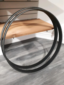 DW LUX leather bass drum hoops