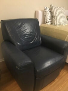 Recliner/armchair - UNIQUE colour!! Beautiful, sturdy, comfy!!